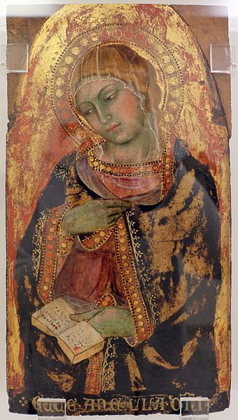 Taddeo di Bartolo - Vergine Annunciata - c. 1410 - tempera e oro su tavola - Pinacoteca di Ravenna