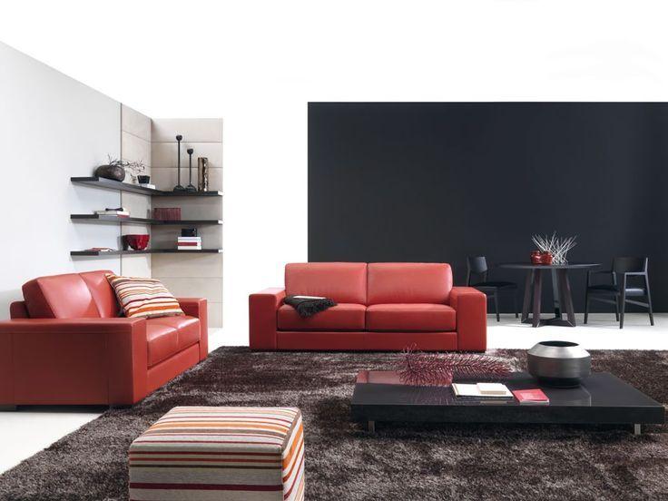 17 stilvolle Wohnzimmer Designs mit roten Sofas –  – #badezimmerideen