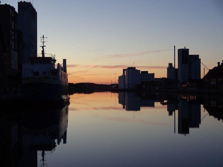 Solnegang på Odense havn 21/6-16