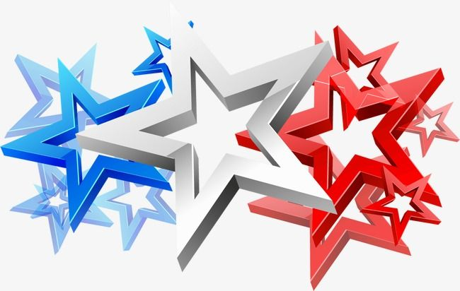 Three Dimensional Stars 4th Of July Usa Independence Day American Independence Day Png Transparent Clipart Image And Psd File For Free Download Three Dimensional Clip Art 4th Of July