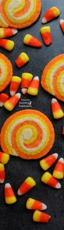 Candy Corn Swirl #Cookies | #Halloween #party #appetizer