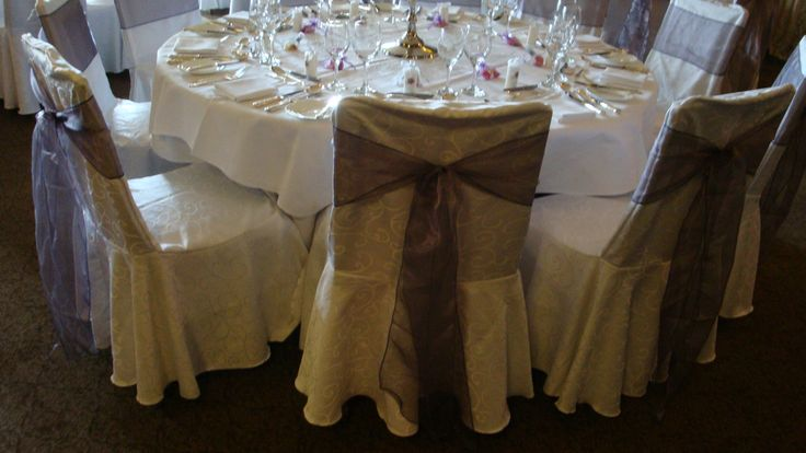 Chair covers with bow