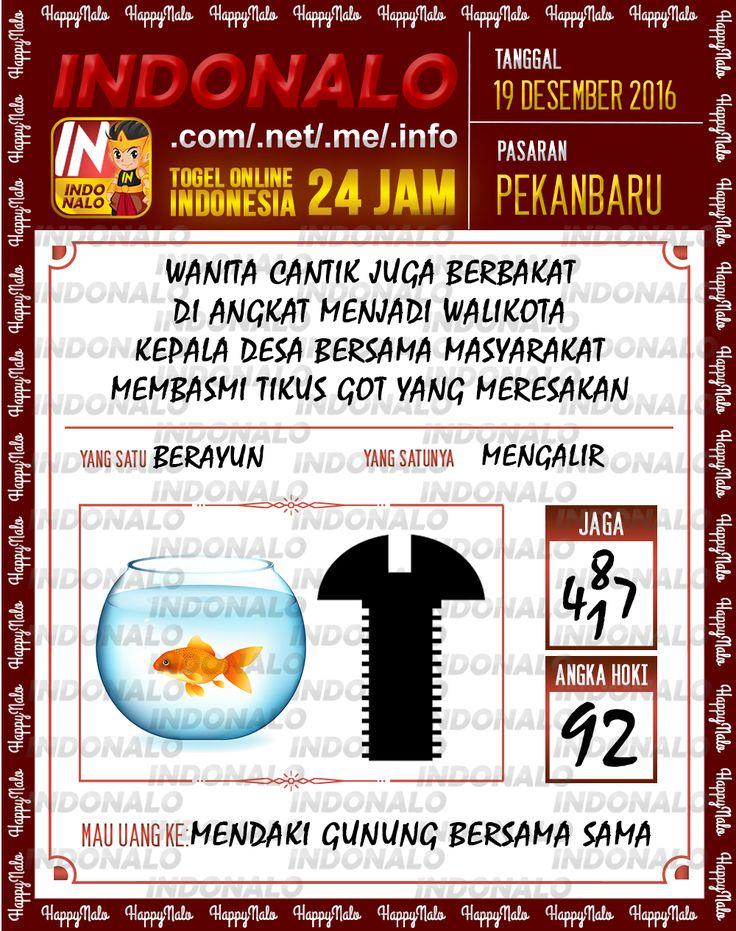 Undian Lotre 3D Togel Wap Online Live Draw 4D Indonalo Pekanbaru 19 Desember 2016