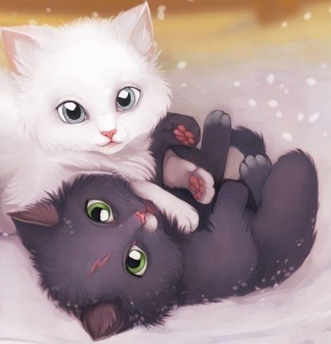 gatitos anime tiernos - Buscar con Google