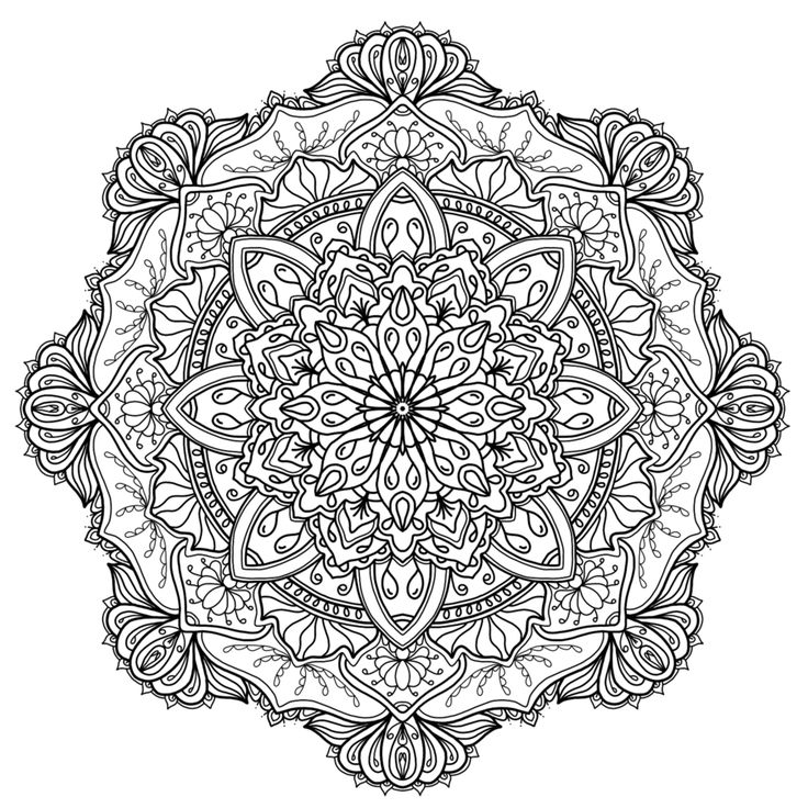 mandala coloring pages as therapy - photo#22