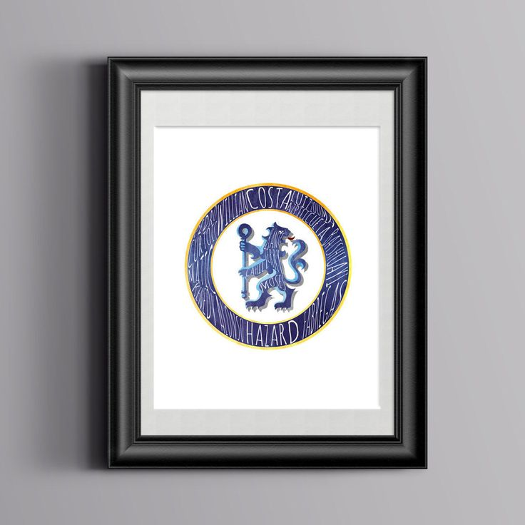 Chelsea FC Crest Print with squad names typography. Premier League by OandAArts on Etsy https://www.etsy.com/listing/496556756/chelsea-fc-crest-print-with-squad-names