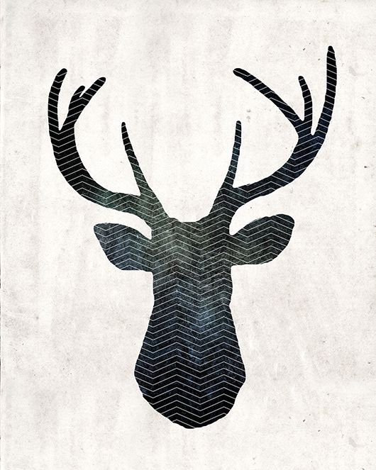free art download stag head deer print #freeprintables #InstantArt #PosterPrints