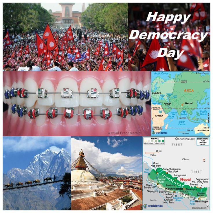 February 19 is Nepal's democracy day , Prajatantra Diwas #Nepal #Democracy #himalayas #himalayan #kathmandu #pokhara #everest #everestbasecamp #ktm #braces #orthodontics #orthodontist #colours #colour #app #design #dental #dentist #dentistry