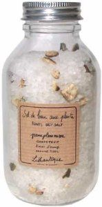 Lothantique Pamplemousse Grapefruit with Grapefruit Peel Bath Salts by Lothantique. $18.95. Salt soaks are the therapeutic cure-all of bathing, alleviating the body's stiff joints while winding down the racing mind after a hectic day. So enhance your bath with this fragrant combination of pure sea salts and botanical extracts. These mineral-rich sea salts from the French Riviera - prized for their restorative effects - gently scent the water while soothing and refreshing the ski...