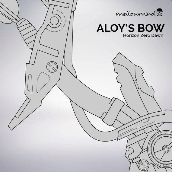 Horizon Zero Dawn Aloy S Bow Blueprint 1 1 Scale Horizon Zero