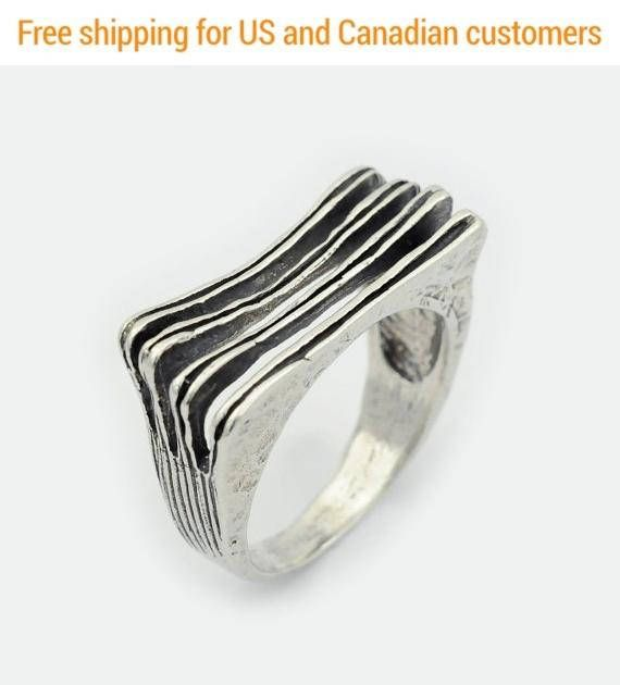 Gift for her, Sterling silver stripes Ring, #jewelry #ring @EtsyMktgTool http://etsy.me/2a7H4MF