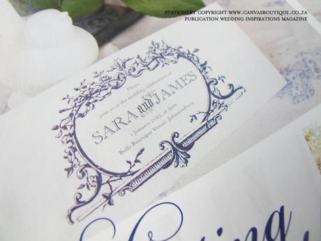 Ornate wedding invitation design - Canvas Stationery Boutique