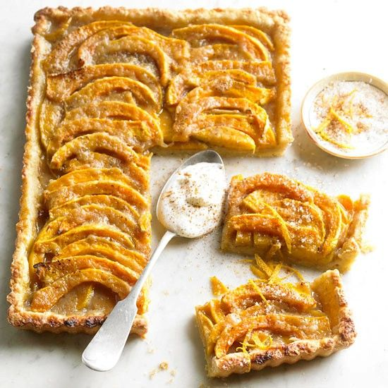 Brown sugar-butternut squash tart from  Better Homes and Gardens Magazine, October 2012 by David Bonom