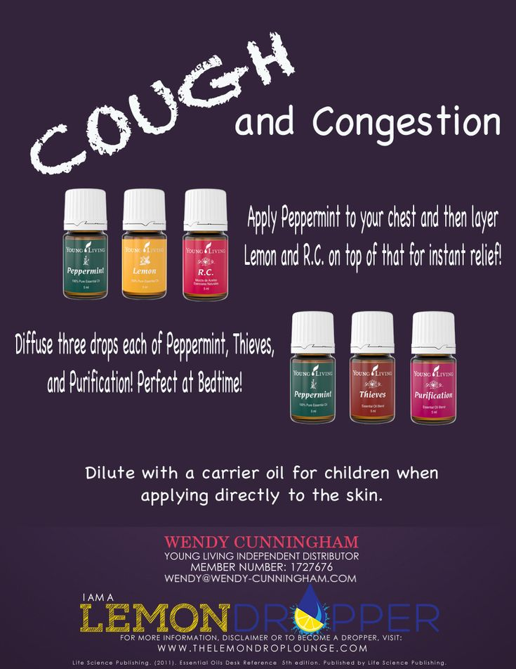 Our family uses this amazingness to get instant relief from cough and congestion. Young Living essential oils. Apply peppermint to the chest and then layer lemon and R.C. on top. We also like to diffuse Peppermint, Thieves, and Purification… especially at night. To learn more about essential oils visit www.joydropper.wendy-cunningham.com: by kirsten