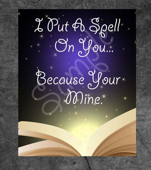 SALE, I put a spell on you, Inspirational poster, Instant Download, Printable poster, 8 x 10, Pdf, fantasy poster, poster printables