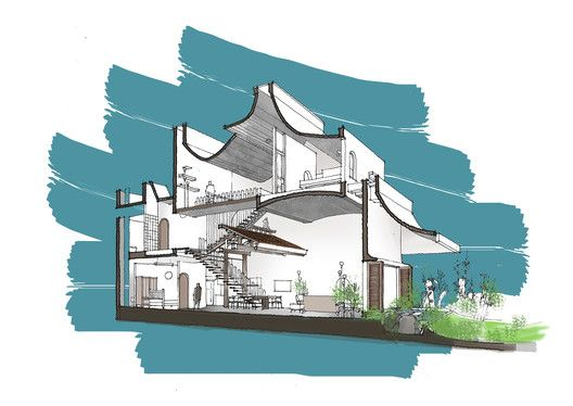 The Memory 23o5studio Drawing ArchitectureGreen