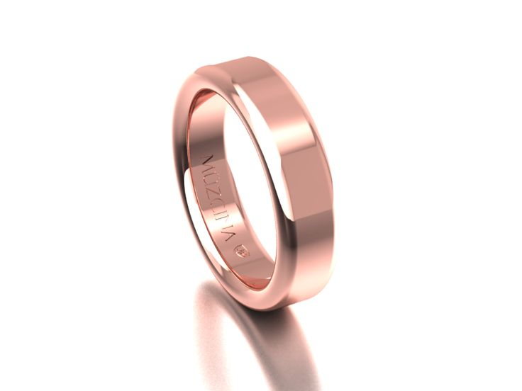 MÜZCINA Collection by JJBückar - BX32-R-100-X-XX-XX-18R-PX, High Polished Finish, 18K Rose Gold, Men's, Wedding Rings, Wedding Bands, Designer, Luxury, Deluxe, Unique, Modern, Custom, Precision Machined