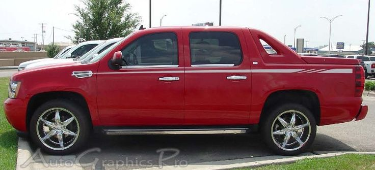"""Chevy Avalanche """"SURGE"""" Upper Body Wide Pin Striping Vinyl Graphic Decal Kit - Universal Fit"""