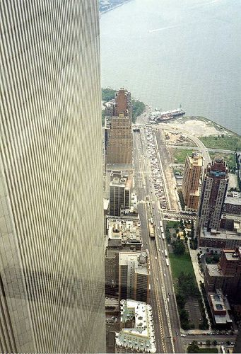 Pictures of the World Trade Center from 104th floor. Wow.