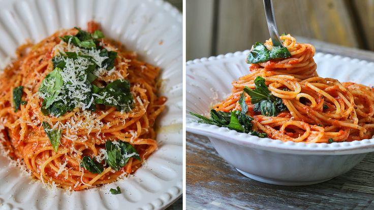 A legkrémesebb paradicsomos spagetti
