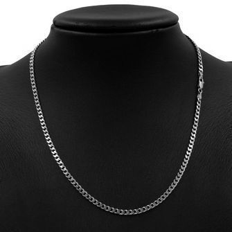 50cm Sterling Silver BCD Curb Chain Necklace - SN-BCD100