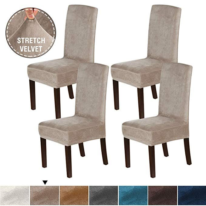 H Versailtex Velvet Plush Rich Dining Chair Covers Set Of 4