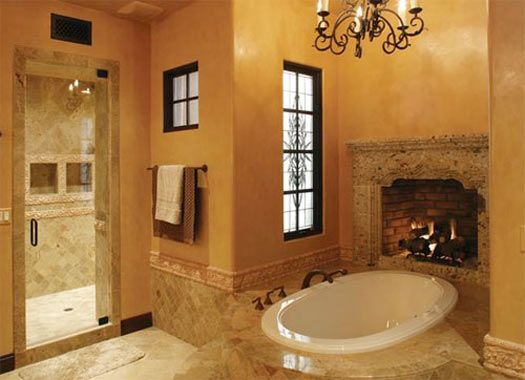 If I hit the lottery ever, I will have a fireplace in my bathroom:)  http://www.calfinder.com/blog/bathroom-remodel/5-cool-bathroom-innovations/