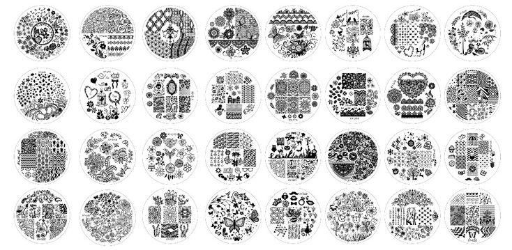32PCS/Lot New Year Fashion DIY Polish Beauty Nail Art Image Stamp Stamping Plates 3D Nail Art Templates Stencils Manicure Tools