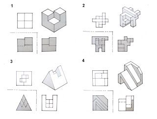 isometric drawing exercises with answers - Google Search