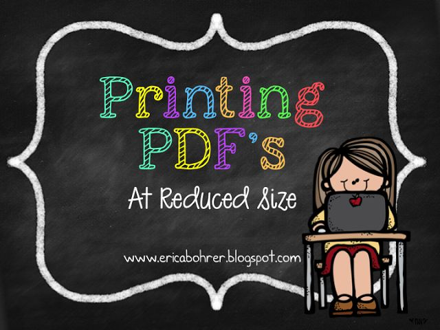 how to scale down a pdf for printing