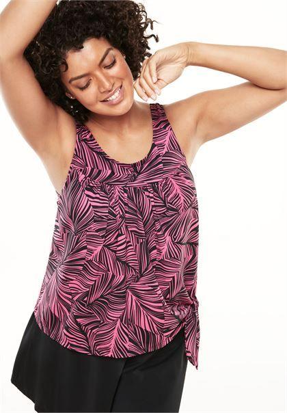 2-piece blouson swim set by Swim 365® | Plus Size Two Piece | Woman Within
