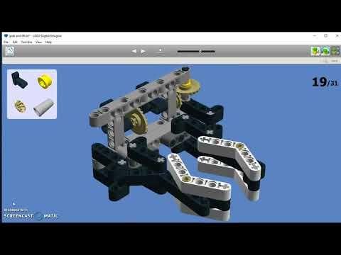 EV3 - grab and lift mechanism (LDD Manual) - YouTube   Lego