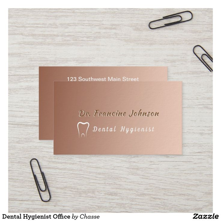 Dental hygienist office business card dental busine ss