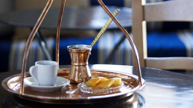 Sweet Spoon dessert and Greek coffee.