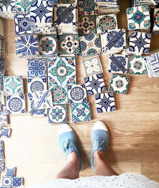 Nos encantan los pisos de mosaicos! Se ve muy lindo en las cocinas!
