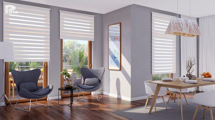 Tyylikkäiden kaihdinten avulla voi säädella huoneeseen tulevan valon määrää. Klikkaa kuvaa, niin näet tarkemmat tiedot.