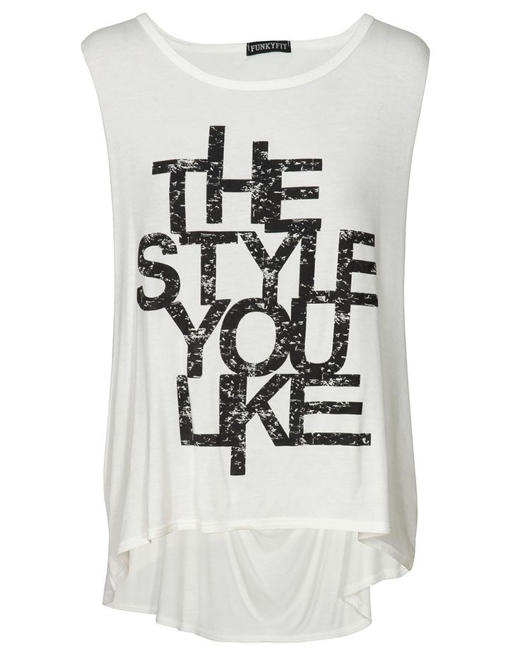 The Style You Like Print Drape Sleeve Vest Top in White