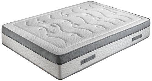 Crown-Bedding-J88101200-Royal-Spring-800-Matratze-Taschenfederkern-H4-Form-Gel-mit-Memoryeffekt-140-x-200-cm