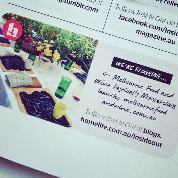 "Photo by georgeousoccasions: ""Our styled @melbfoodandwine lunch in Sydney gets a mention in @insideoutmag ! Wohooo x"""