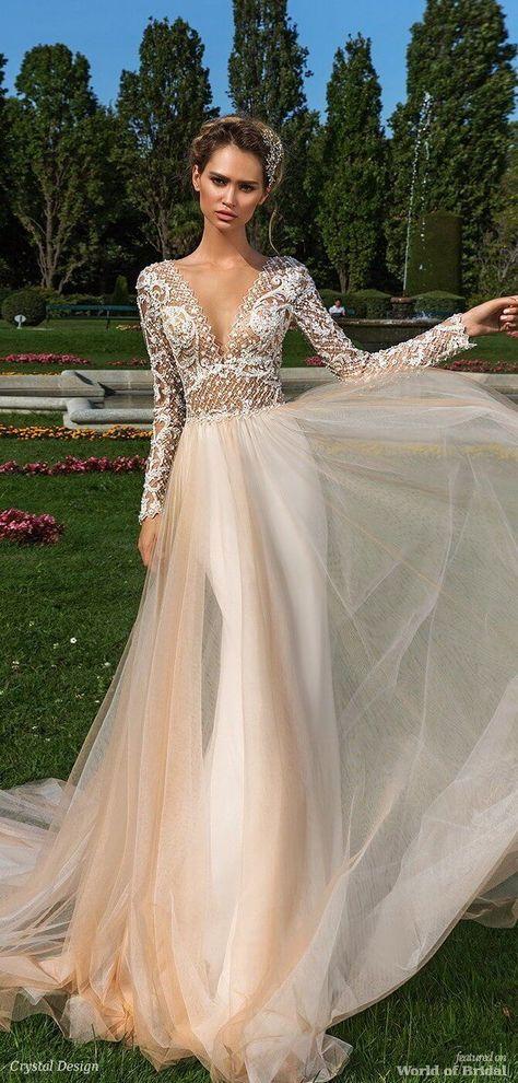 Crystal Design 2018 Wedding Dress Weddingdress Suknie ślubne