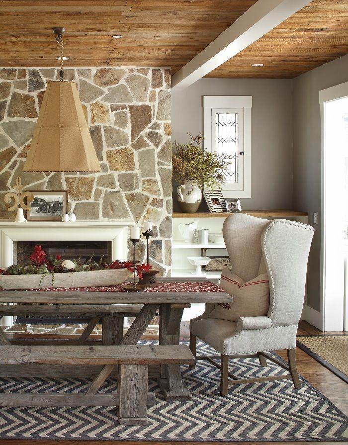 fea55e64427b5abf7b0fb5fcec410d5a--wingback-chairs-stone-fireplaces william sonoma home rugs