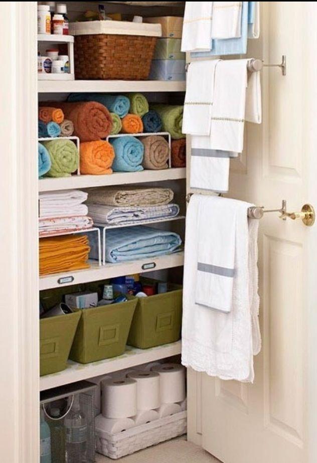 next project - organize linen closet