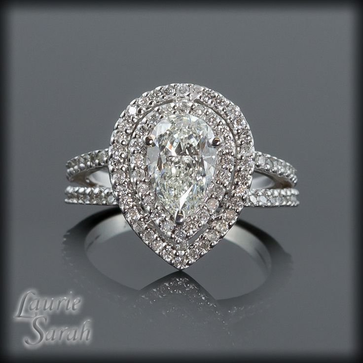 best 25 pear shaped diamond ring ideas on pinterest