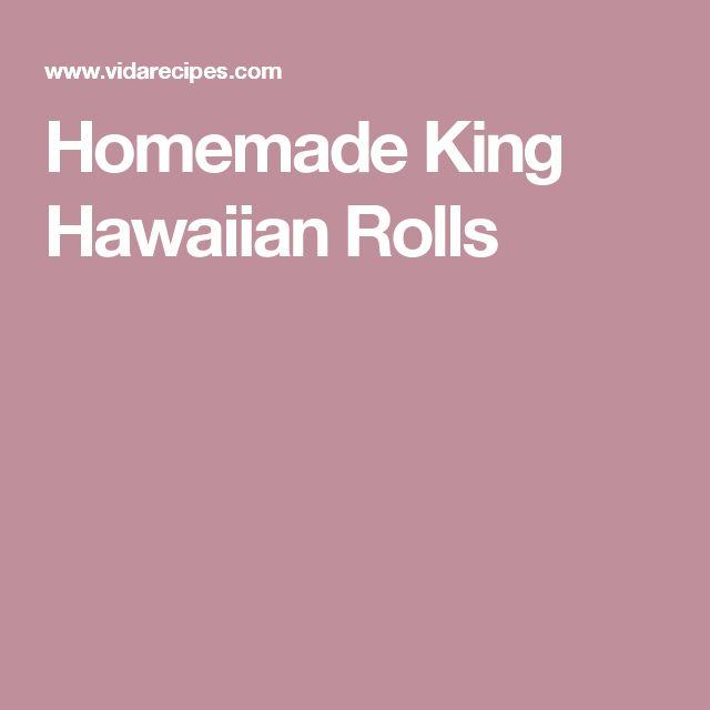 Homemade King Hawaiian Rolls