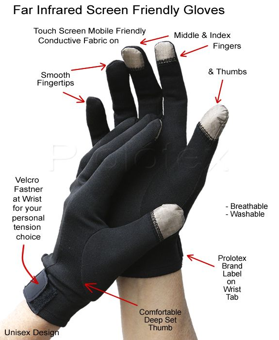 New Improved Mobile Friendly Far Infrared Prolotex Gloves ...