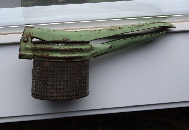 A personal favorite from my Etsy shop https://www.etsy.com/listing/266838216/rustic-green-potato-ricer