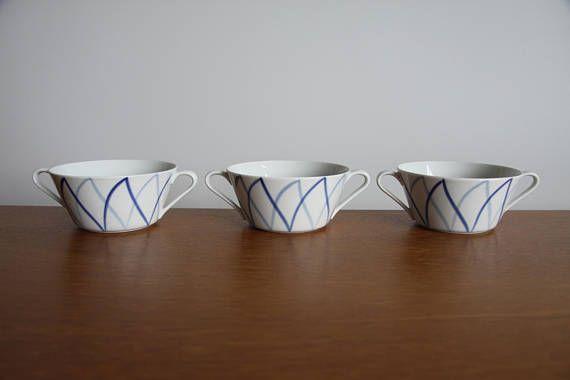 LYNGBY DENMARK Harlekin Soup Bowls