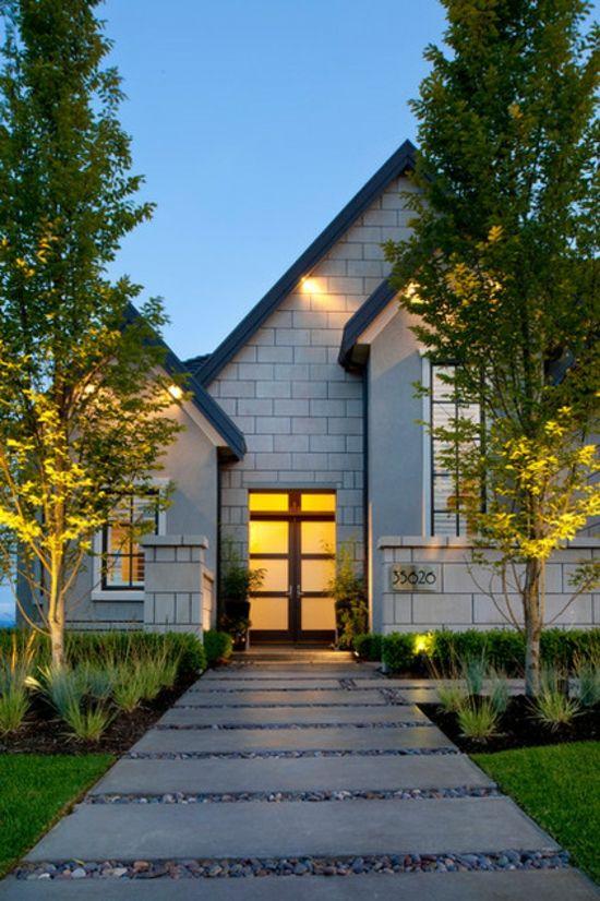 25+ Best Ideas About Haus Außendesign Auf Pinterest ... Mauerwerk Als Sichtschutz Haus Design Idee
