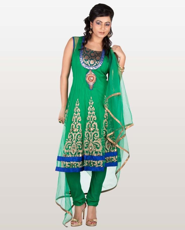 Gorgeous Green Anarkali Suit with Jacket