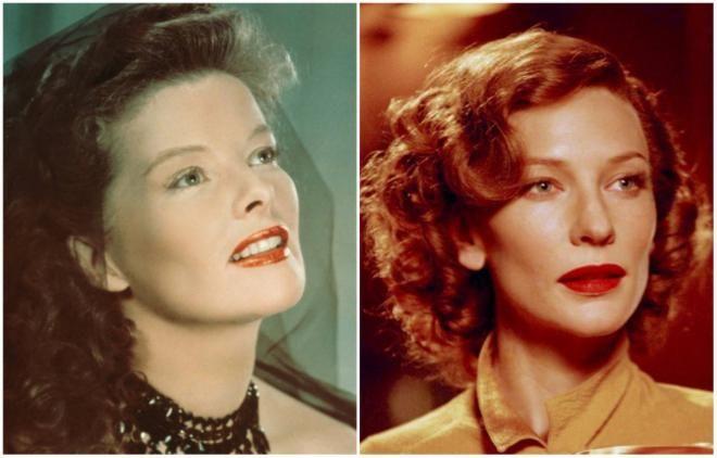 <p>Katharine Hepburn από την για πρώτη φορά κοκκινομάλλα Cate Blanchett<br /> The Aviator» 2004</p>